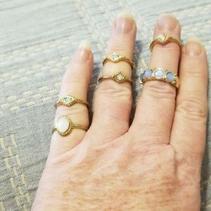 Costume jewelry ring set